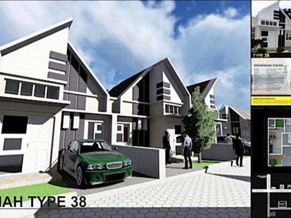 Dijual Rumah Type 38 di Perumahan Assalam Residence Menganti Gresik KPR Syariah