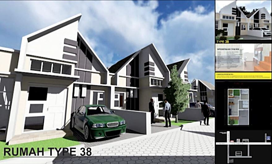 Rumah Type 38 Perumahan Assalam Residence Menganti Gresik KPR Syariah